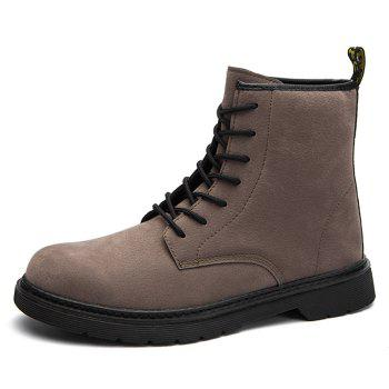 Back Pull-tab Tie Up Chukka Boots - DEEP BROWN DEEP BROWN