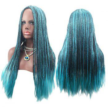 Long Center Parting Crochet Braids Colormix Synthetic Cosplay Wig - COLORMIX COLORMIX