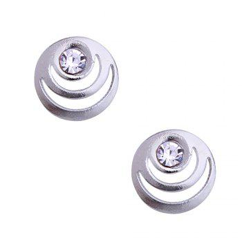 Hollow out Skull Necklace and Stud Earrings -  SILVER