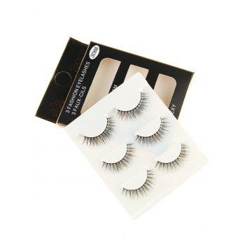 Professional Natural Long Extension Fake Eyelashes - BLACK