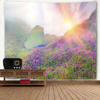 Sunrise Wild Tent Printed Wall Hanging Tapestry - COLORMIX W59 INCH * L51 INCH