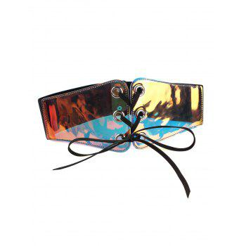 Funny Translucent Pattern Decorated Elastic Wide Waist Belt - COLORFUL COLORFUL