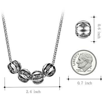 Alloy Simple Necklace and Earring Set - SILVER