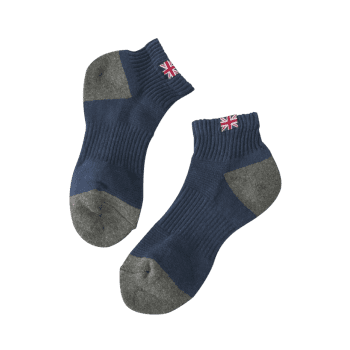 The Union Jack Design Anklet Socks - CADETBLUE