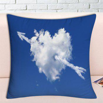 Valentine's Day Cloud Arrow Heart Printed Pillowcase - BLUE W18 INCH * L18 INCH