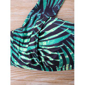 Tropical Print Plus Size Bikini Set - GREEN 5XL