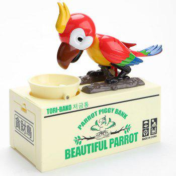 Parrot Shape Automatic Stole Coin Money Box - RED