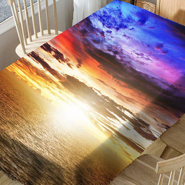 Seaside Sunset Printed Microfiber Waterproof Table Cloth - COLORMIX W54 INCH * L54 INCH