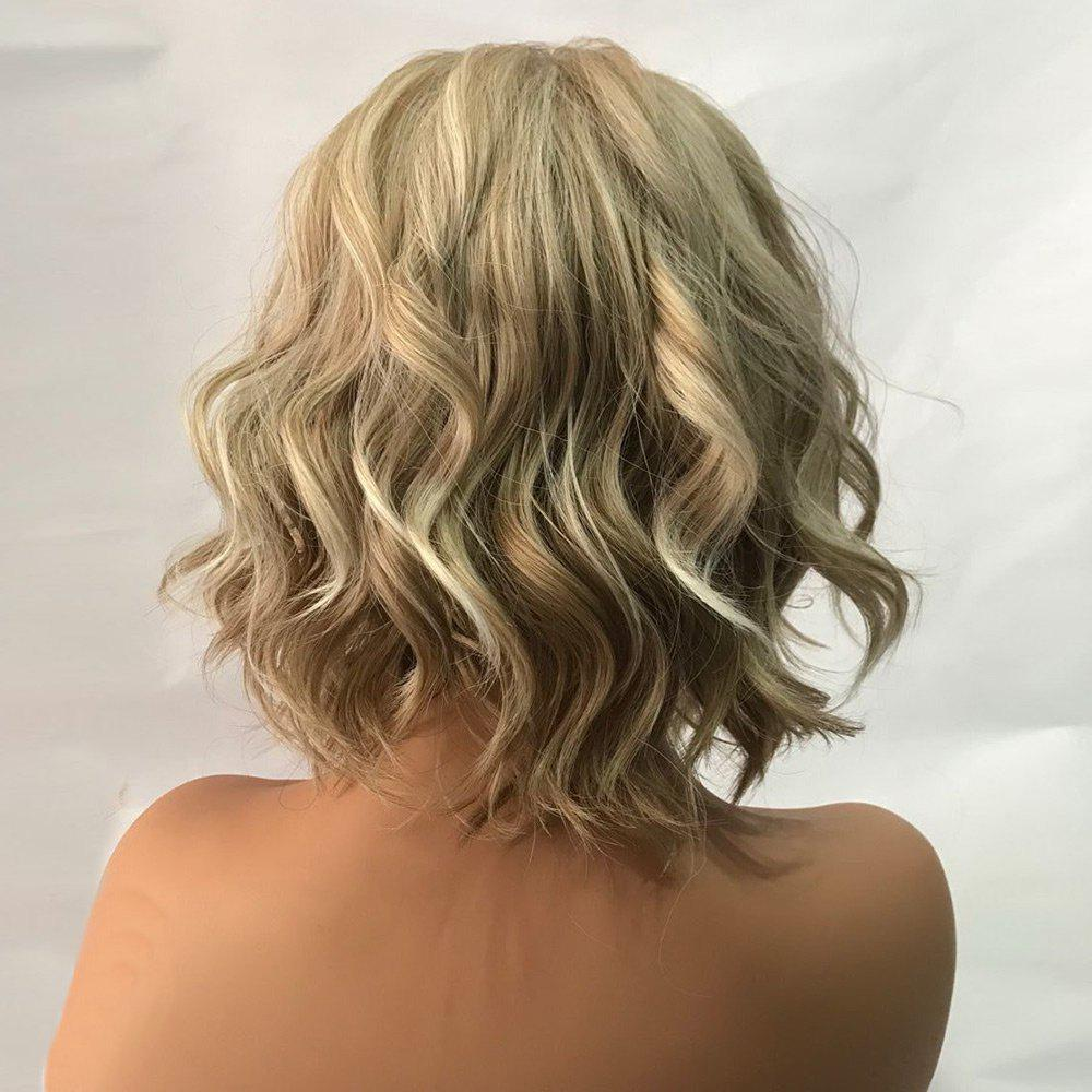 Short Side Bang Wavy Colormix Capless Synthetic Wig - COLORMIX