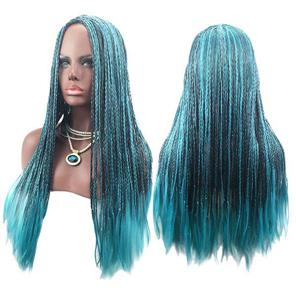 Long Center Parting Crochet Braids Colormix Synthetic Cosplay Wig - COLORMIX