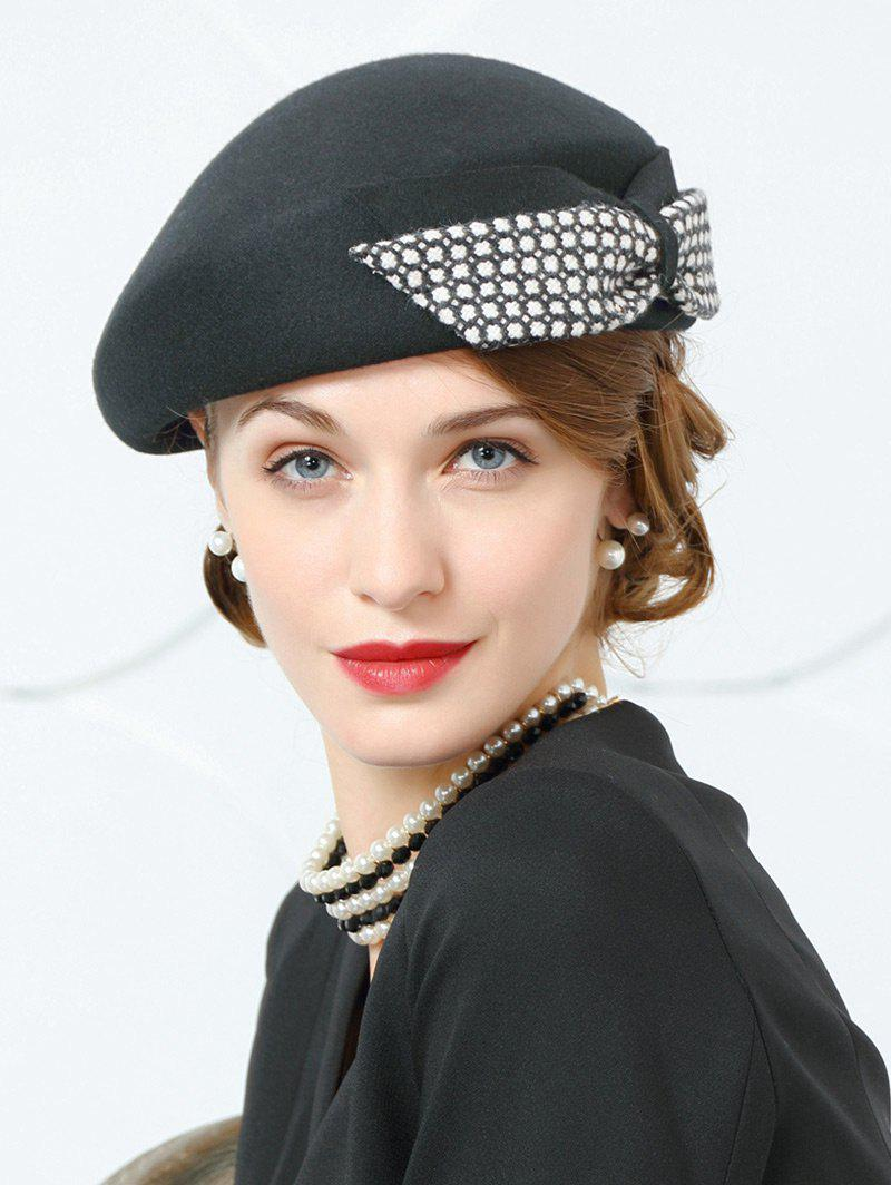 Vintage Bowknot Decoration Formal Ladies Hat - BLACK