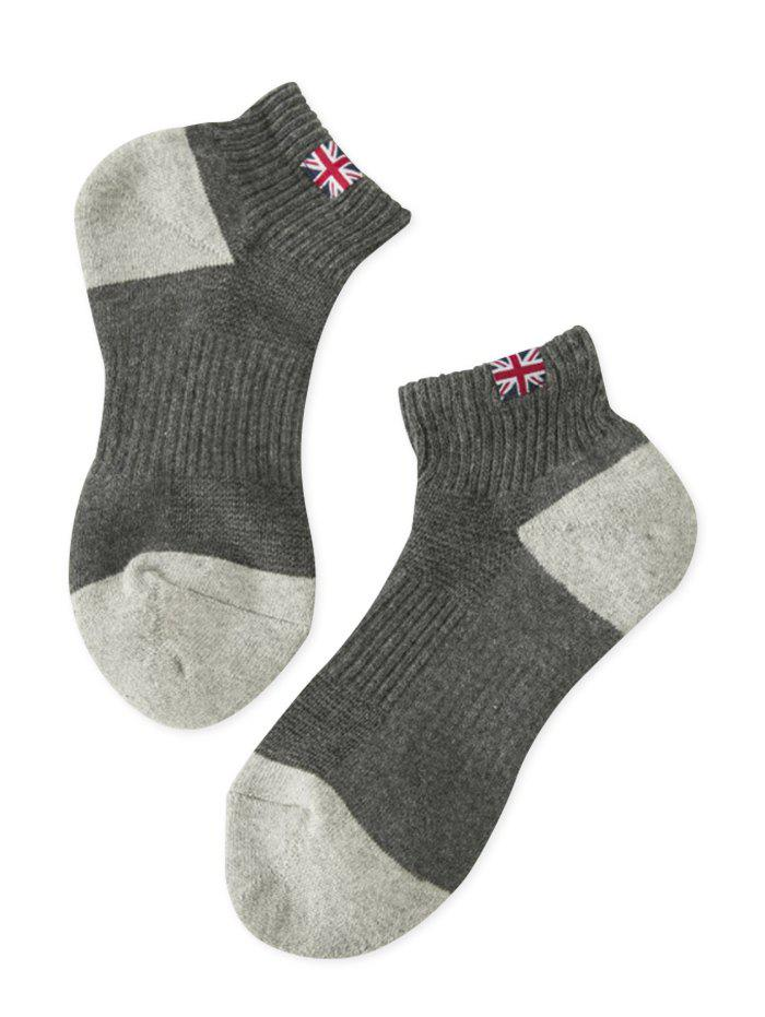 The Union Jack Design Anklet Socks - GRAY