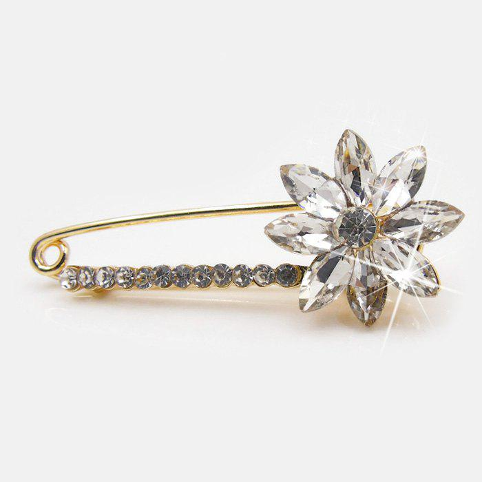Sparkly Faux Crystal Rhinestone Flower Brooch джинсовая юбка quelle cheer 671833