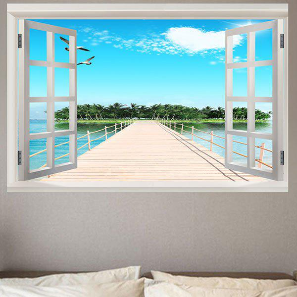 Fine Weather Sea Island Removable Window View Wall Sticker улитки fine life граненые