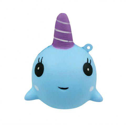 Cartoon Whale Shape Slow Recovery Squeeze Stress Reliever Toy - BLUE