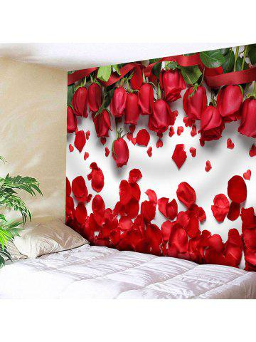 Wall Decor Valentineu0027s Day Roses Pattern Tapestry