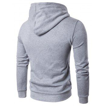 Pouch Pocket Graphic Pullover Hoodie - GRAY 3XL