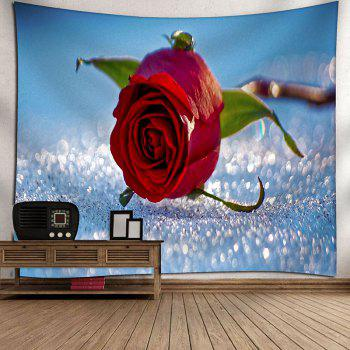 Rose Flower Pattern Wall Hanging Bedroom Tapestry - LIGHT BLUE W79 INCH * L59 INCH