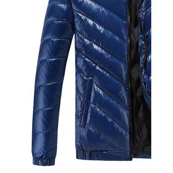 Waterproof Padded Zip Up Jacket - ROYAL 4XL