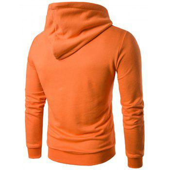 Sweat à capuche graphique appliqué - Orange XL