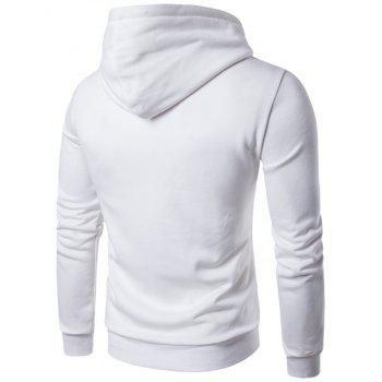 Graphic Applique Pullover Hoodie - WHITE 2XL