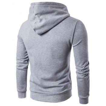Graphic Applique Pullover Hoodie - GRAY 3XL