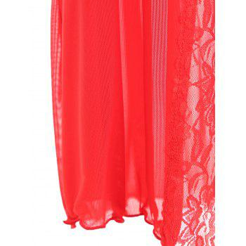 Ruffles Bralette Set with Maxi Wrap Dress - RED ONE SIZE