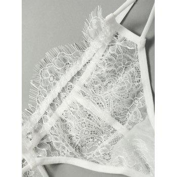 Cami Lace Sheer Lingerie Set - WHITE ONE SIZE