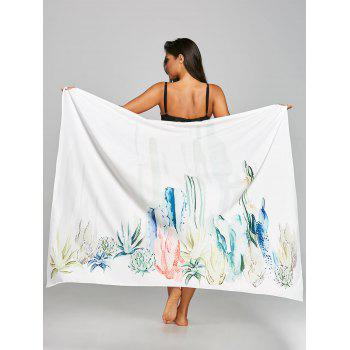 Cactus Print Sunbath Beach Cover Throw - COLORMIX COLORMIX