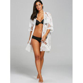 Brodé Voir Thru Beach Cover Up - Blanc ONE SIZE