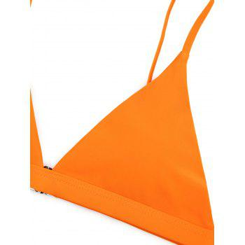 Ensemble Bikini à Bretelles Spaghetti Paddé Thong - Orange S