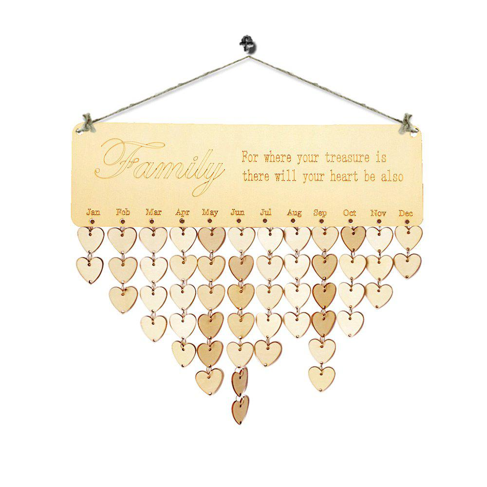 Wooden DIY Family Birthday Calendar Board gayle m the hope family calendar
