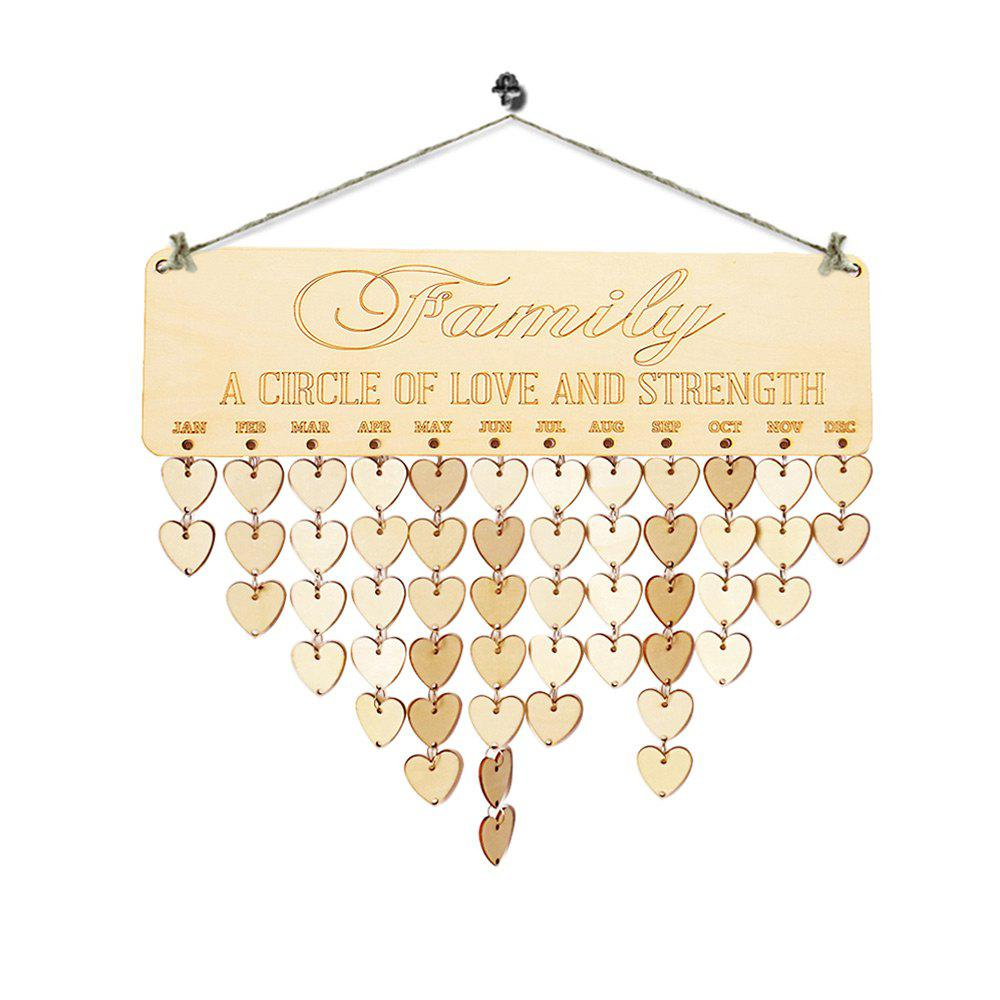 2018 diy wooden family birthday reminder calendar heart in diy