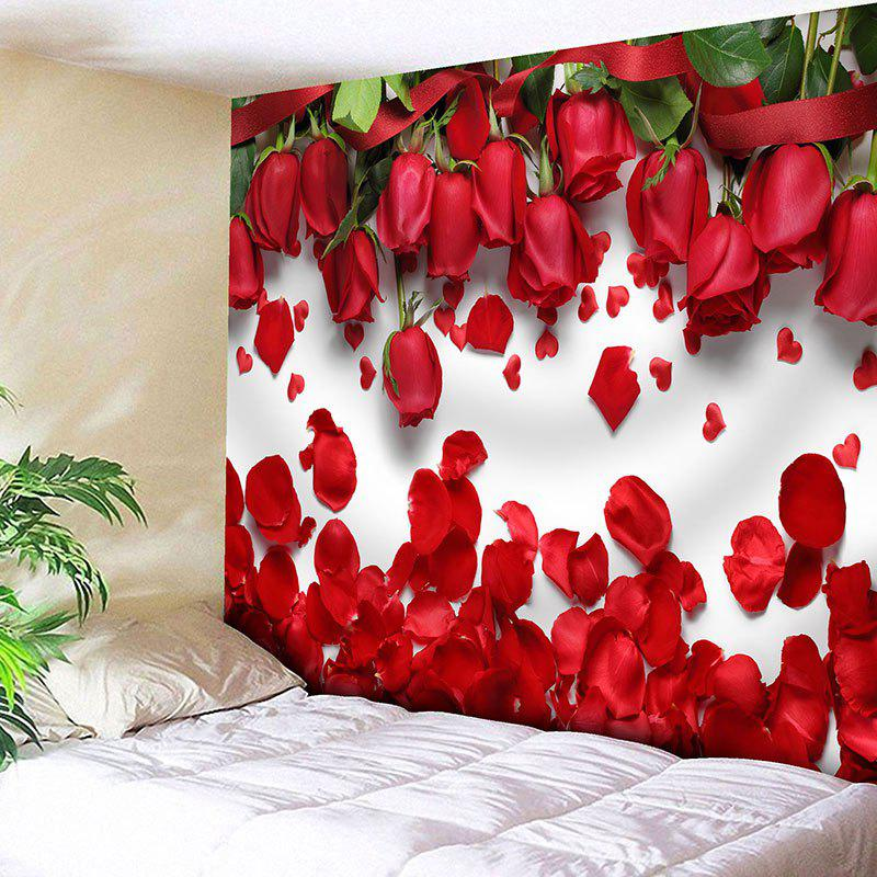 Wall Decor Valentine's Day Roses Pattern Tapestry цена 2017