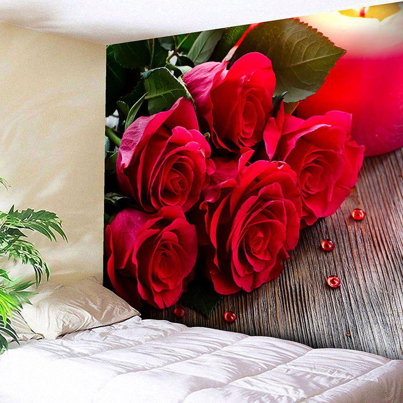 Wall Decor Valentine's Day Roses Print Tapestry цена 2017