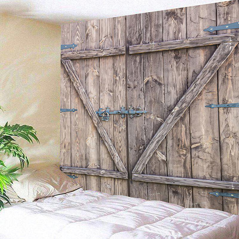 Wall Hanging Old Wooden Door Pattern Tapestry