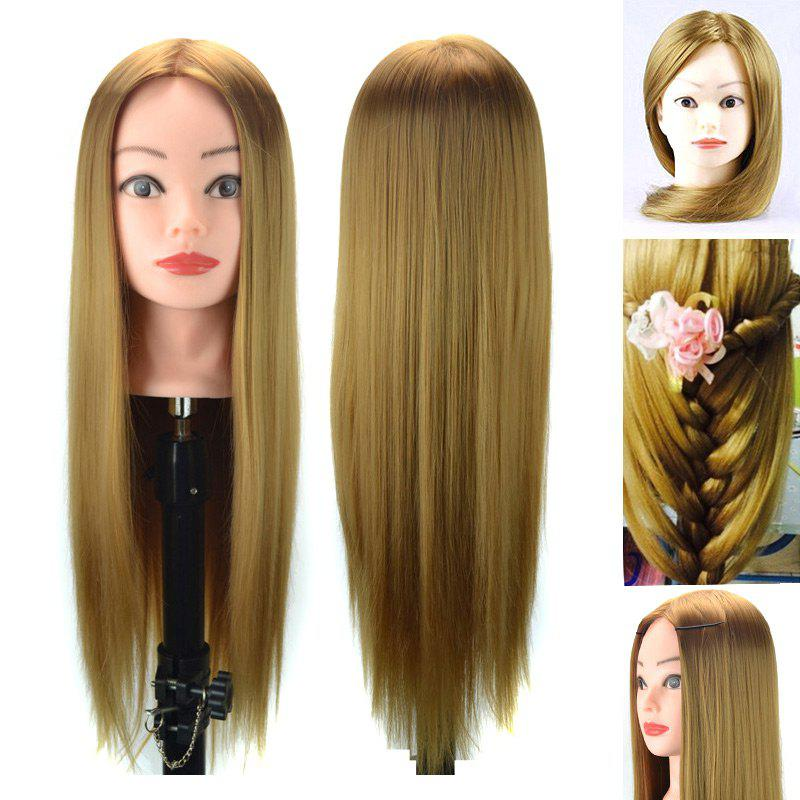 Head Mannequin Clamp Synthetic Long Straight Wig For Practice Training - CITRUS