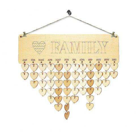 DIY Wooden Family and Heart Birthday Calendar Reminder Board - HEART