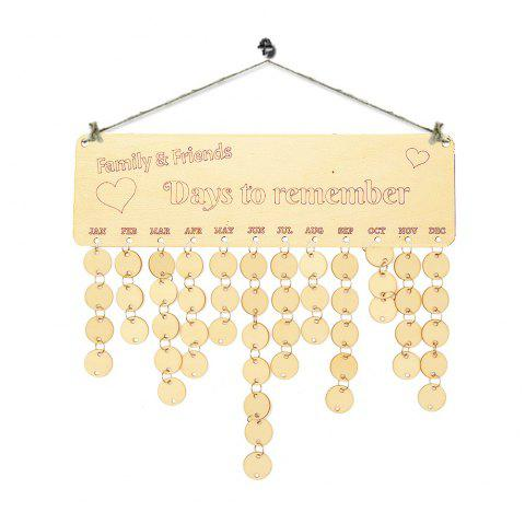 Family and Friends Birthday Calendar Wooden DIY Reminder Board - ROUND
