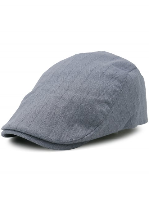 Outdoor Stripe Pattern Embellished Adjustable Newsboy Hat - GRAY