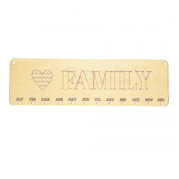 DIY Wooden Family and Heart Birthday Calendar Reminder Board - ROUND