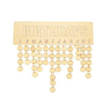 Birthday Calendar Wooden DIY Reminder Board - ROUND