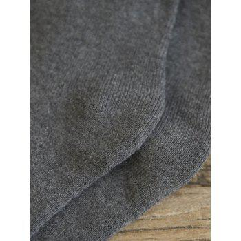 Pair of Pure Color Pattern Crew Socks - GRAY