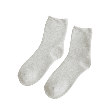 Pair of Pure Color Pattern Crew Socks -  WHITE