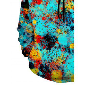 3D Digital Print Trippy Pullover Hoodie - COLORMIX XL