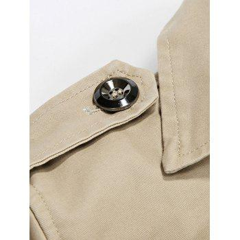 Single-Breasted Lapel Slim Jacket - KHAKI 3XL