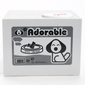 Electric Automated Dog Design Steal Coins Money Box - GRAY