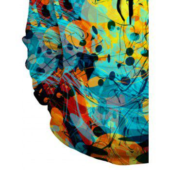 3D Abstract Trippy Pullover Hoodie - COLORMIX 3XL
