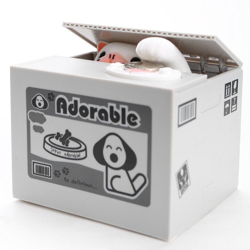 Electric Automated Dog Design Steal Coins Money Box new year gift cute cat automated steal stealing money saving box bank
