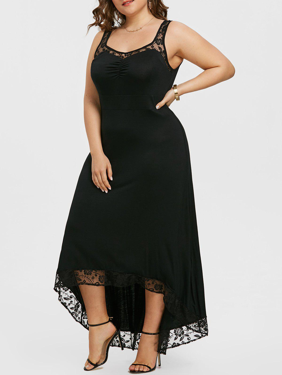 High Low Plus Size Party Maxi Dress цена и фото